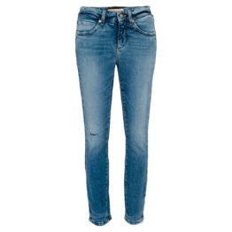 Cambio Jeans • blauwe Parla Zip jeans eco met beschadigingen