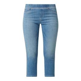 Cambio Jeans • blauwe Philia capri met zilveren bies