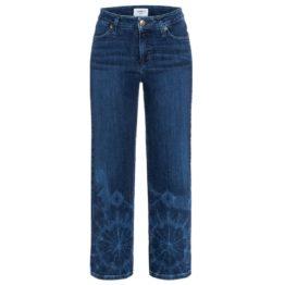 Cambio Jeans • blauwe culotte jeans Philippa met tekening