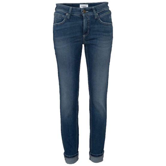 Cambio Jeans • blauwe jeans Pina Short met CJ logo