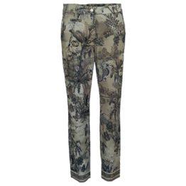 Cambio • pantalon Stella cropped in taupe met tekening