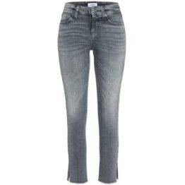 Cambio Jeans • grijze jeans Tess Straight met zilveren versieringen