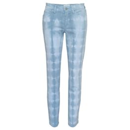 Cambio Jeans • blauwe tie dye slim fit jeans eco