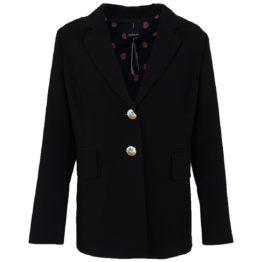 Caroline Biss • zwarte blazer met twee zilveren knopen