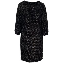 Caroline Biss • zwarte jurk met gouden print