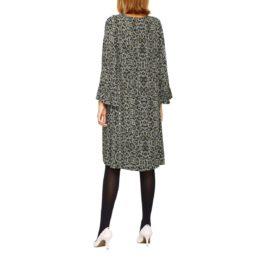 Essentiel • kaki jurk Temco met slangenprint