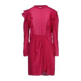 Isabel Marant Etoile • korte rode zijden jurk