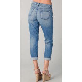 J Brand • blauwe boyfriend jeans met beschadigingen