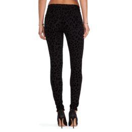 J Brand • zwarte super skinny jeans met luipaard print
