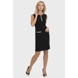 Joseph Ribkoff • zwarte jurk met parel details