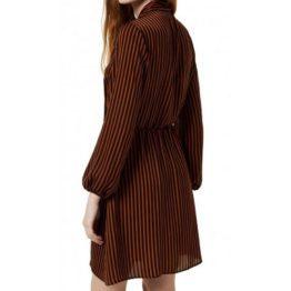 Liu Jo • gestreepte jurk in oranje zwart