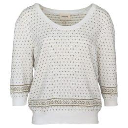 Mara May • witte trui met gouden motief