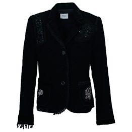 Moschino • zwart jasje met versieringen