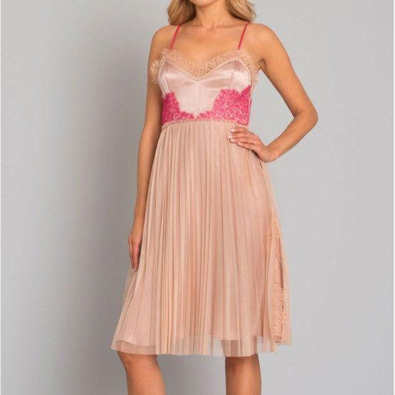 Pinko • roze jurk Seminare met plooirok