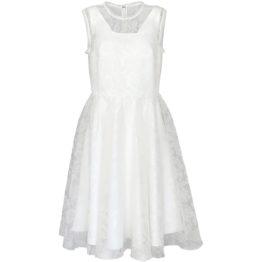 Pinko • witte jurk met doorschijnende bovenlaag