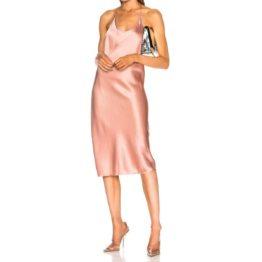 T by Alexander Wang • satijnen jurk in roze