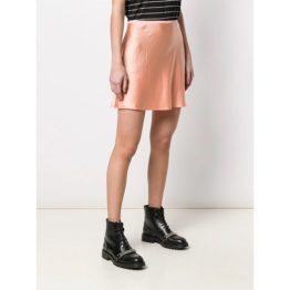 T by Alexander Wang • satijnen mini rok in papaya