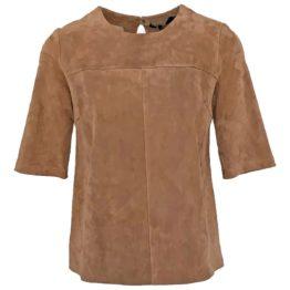 Zinga • bruin suede shirt Fabia