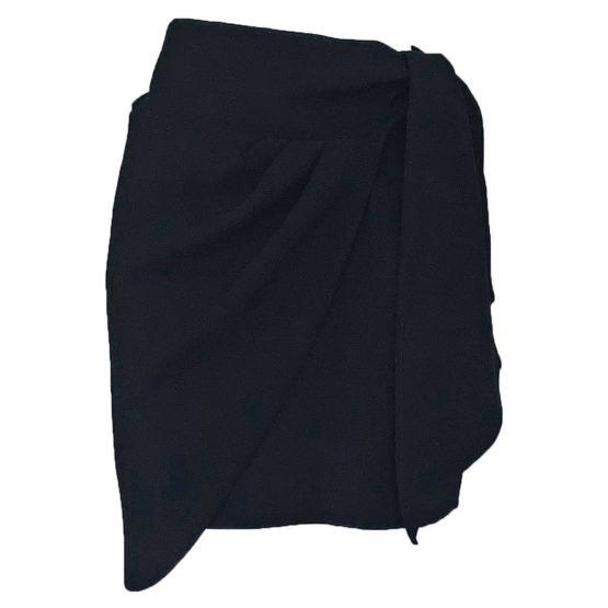 Ba&sh • korte zwarte rok met sjaal Kessy