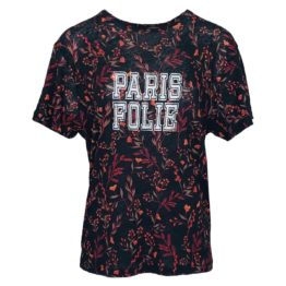 Ba&sh • zwarte linnen shirt met bloemen Yawl