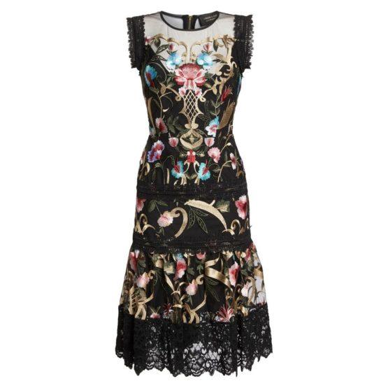 Bronx and Banco • geborduurde zwarte jurk