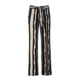 Cambio • culotte pantalon Claire in zwart en beige