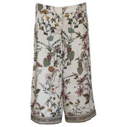 Cambio • wijde pantalon Camie met bloemen motief