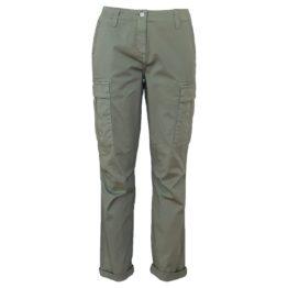 Cambio Sport • kaki cargo pantalon Kalla met steentjes