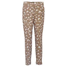 Cambio • bruine pantalon Stella met sneeuwklokjes