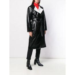 Dorothee Schumacher • zwarte lange jas met coating