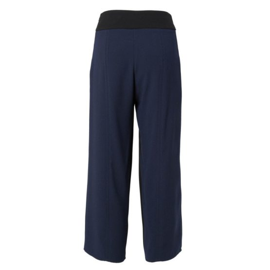 Elisabetta Franchi • wijde donkerblauwe pantalon