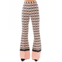 Elisabetta Franchi • zwart roze pantalon met EF monogram