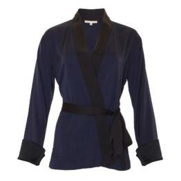 Gold Hawk • kimono in donkerblauw met zwart