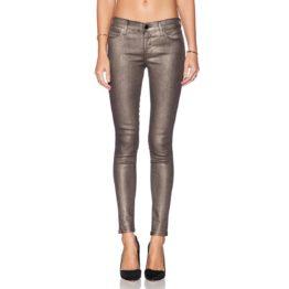 J Brand • zwarte super skinny jeans met gouden coating