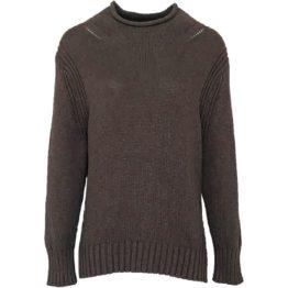 Mara May • grijze gebreide trui met rolkraag