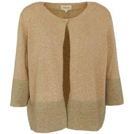 Mara May • beige vestje met een knoopje