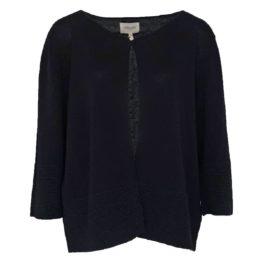 Mara May • zwart vestje met 1 knoop