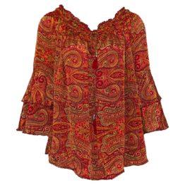 Martine Semmel Ibiza • rode zijden tuniek