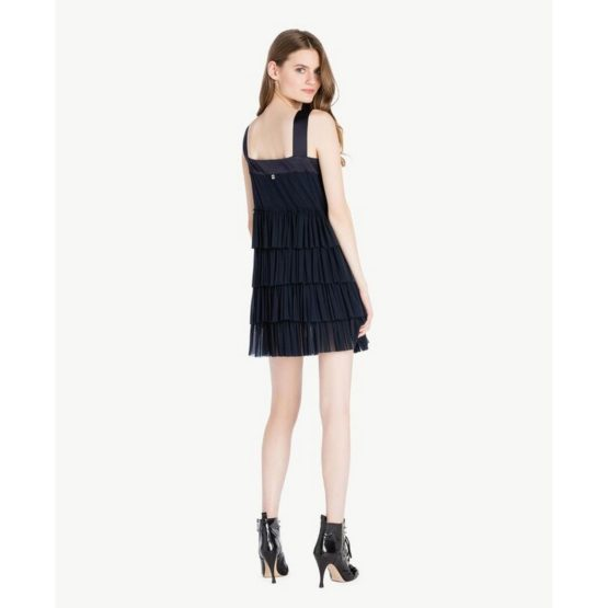 Twinset • donkerblauwe jurk met laagjes