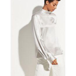Vince. • zijden blouse in zilver