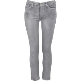 7 for all mankind • zilveren High Waist Skinny Crop jeans
