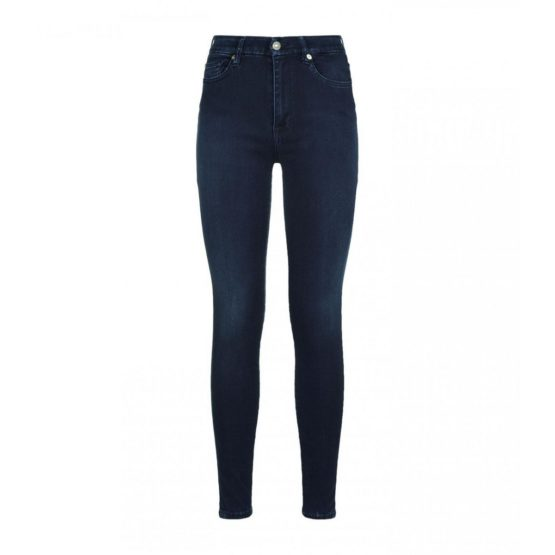 7 for all mankind • blauwe super high waist skinny jeans