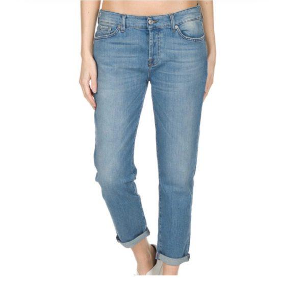 7 for all Mankind • blauwe boyfriend jeans Josefina
