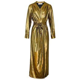 Acide • gouden maxi overslag jurk