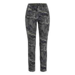 Cambio Jeans • kaki jeans Piper met hawai print