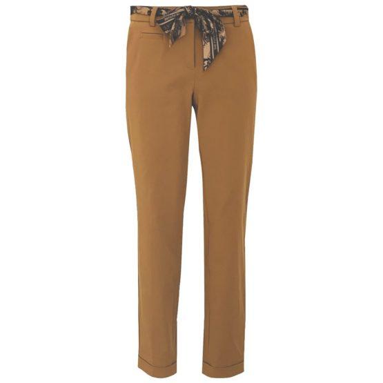 Cambio • bruine pantalon Stella met sjaal