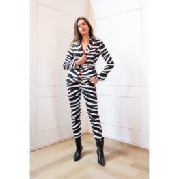 Janice • blazer Luke in zebra print