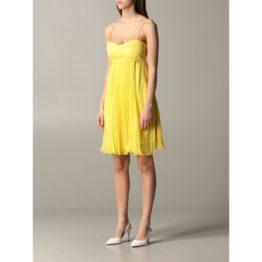 Pinko • gele jurk met plooien