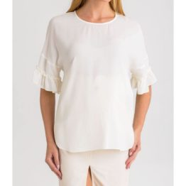 Twinset • ecru blouse met volants
