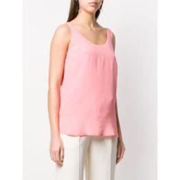 Twinset • roze mouwloze top